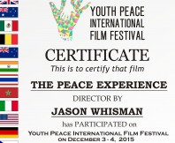 The Peace Experience at Youth Peace International Film Festival!