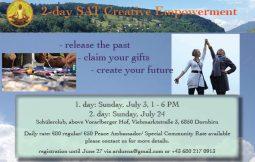 Creative Workshop in Dornbirn, July 3 + 24