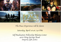 The Peace Experience in Atlanta, GA, April 1