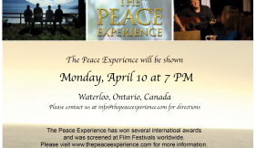 The Peace Experience in Waterloo, Canada, April 10