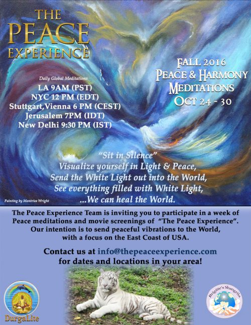 Peace Meditation Week Oct 24-30