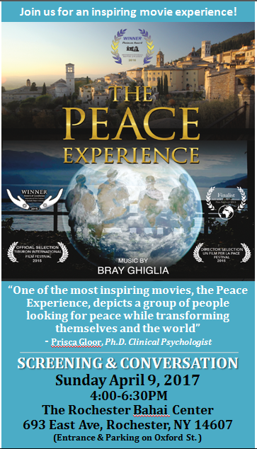 The Peace Experience in Rochester, NY, April 9